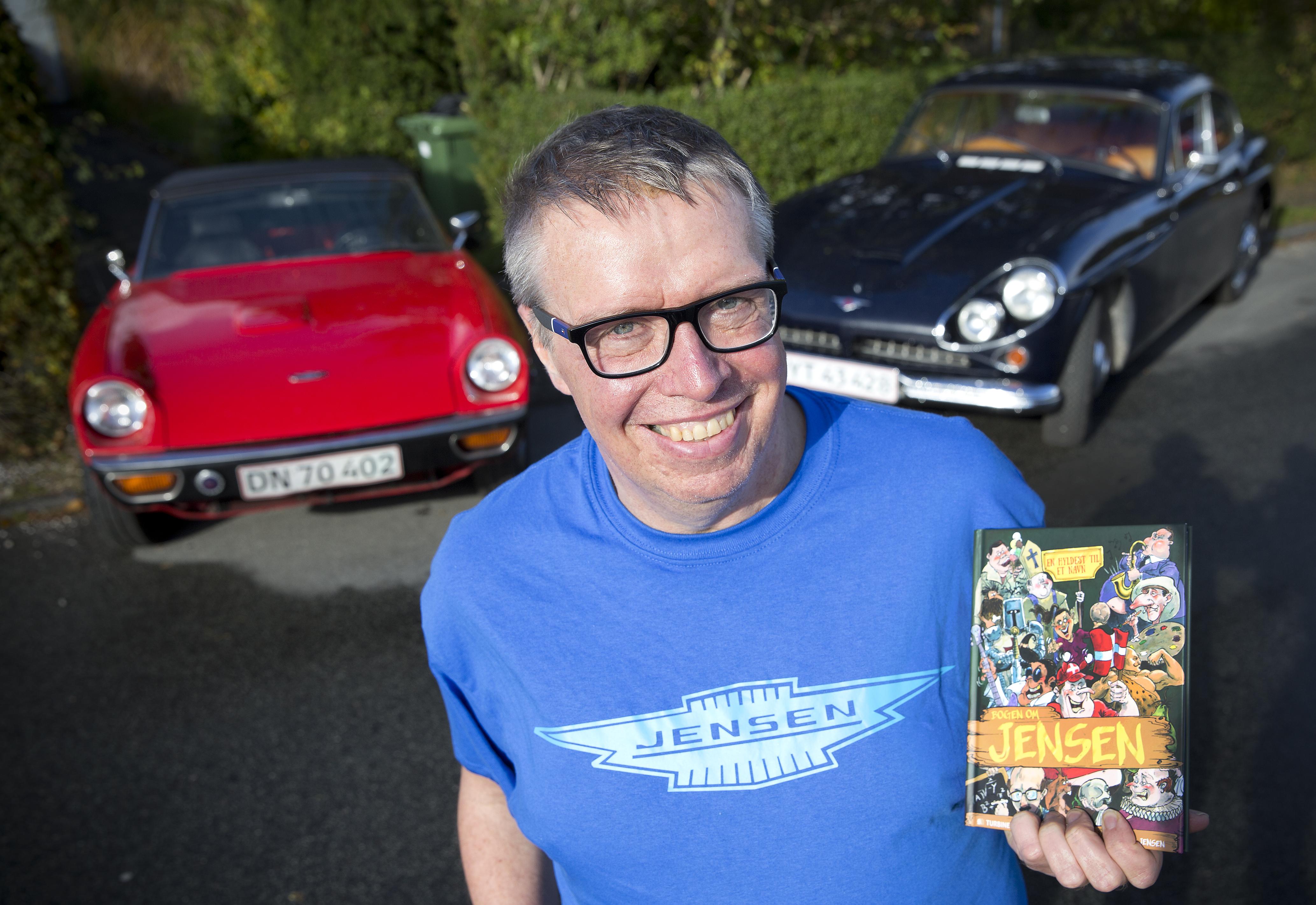 Jensen med Jensen-biler og Jensen-bog